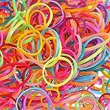 2000 Pezzi Multi Colore Elastici per Capelli Fasce Fermacoda Capelli per Bambini Ragazze Gomma porta coda di cavallo con coda di cavallo