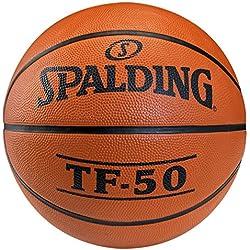 SPALDING - TF50 OUTDOOR SZ.7 (73-850Z) - Ballons de basket NBA - Touché et Contrôle améliorés - Matière Durable - orange