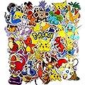 WayOuter Pokémon Pegatinas 80pcs Únicas y Frescas para Niños Adolescentes Portátil Guitarra Patinetas de Viaje Pegatinas Impermeables por WayOuter
