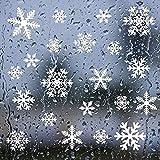 Schneeflocken Aufkleber, Fensterbilder Weihnachtsdeko Tolle Fensterdeko Abziehbilder für Weihnachten, Christbaumschmuck,Winter Dekoration, Abnehmbare Fensterdeko Statisch Haftende Pvc Aufkleber Weiß. Vergleich