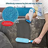 Anzl Pet Fur & Lint Remover with Self-Cleaning Base Double-Sided Brush Removes Dog