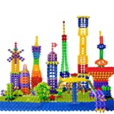 #10: Idream 200Pcs Multi-Color Thin Snowflakes Model Building Block Creative Educational Toy For Kids