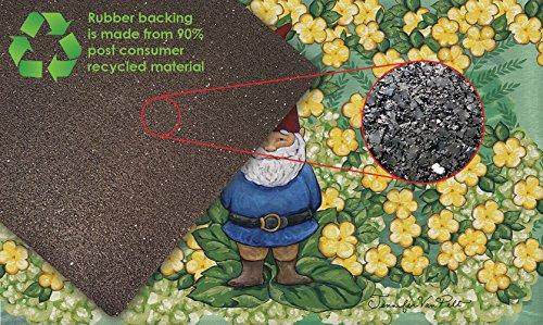 Toland-Home-Garden-830216-Garden-Gnome-18-x-30-Recycled-Mat-USA-Produced