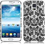 JAMMYLIZARD | Damast- Motiv Back Cover Hülle für Samsung Galaxy S5 / S5 NEO, SCHWARZ