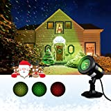 OMORC Proiettore Lampada LED Faretto Luce Proiettore Stelle, 10 Modi IP65 Impermeabile Luce LED per Albero di Natale, Compleanno, Matrimonio, Festività