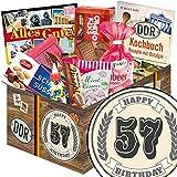 Geschenkideen zum 57. für Ostalgiker | Süße DDR Geschenk Box | Geschenk Box