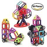 YZCX Magnetische Bausteine Regenbogen Set 95 Teile Große Magnetische Konstruktionsbausteine Konstruktion Blöcke Bausatz Kreative und Pädagogische Spielzeuge für Baby,Kleinkinder ab 3 Jahre