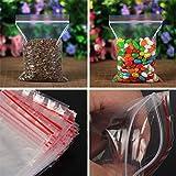 Anqeeso Rosenblätter aus transparenten Tüte Kunststoff Baggy Griff Selbst Versiegelung wiederverschließbaren wiederverschließbaren Zip Lock Tasche für Home Kleinteile für, 7x10cm