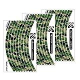 Jeu d'autocollants pour jante de roue de vélo, VTT Motif camouflage The Invisible Man, Classique