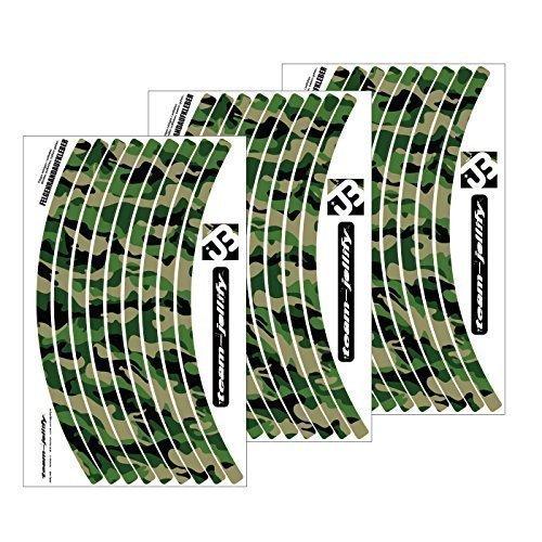 Jeu d'autocollants pour jante de roue de vélo/VTT, motif camouflage « The Invisible Man »,...