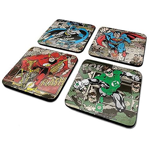 DC csp0011Originals Batman/Superman/Flash/Green Lantern Untersetzer-Set (4-teilig)