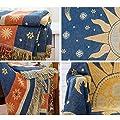 SUNSETGLOW Sofa deckt doppelseitige Baumwolle Handgewebte Sonne und Mond Sterne Muster Sofa Abdeckung weiche warme und Bequeme Decken von SUNSETGLOW - Gartenmöbel von Du und Dein Garten