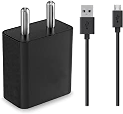 GoSale 2 Amp Mobile Charger, Wall Charger with 1 Meter Micro USB Charging Data Cable (Black/White)