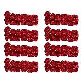 144 stk. Rose Blüten Blumen für Hochzeit - Künstliche Papier (Rot)