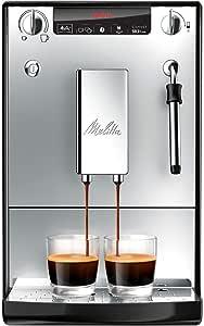Melitta Caffeo Solo & Milk E953-102, Schlanker Kaffeevollautomat mit Milchschaumdüse, Silber