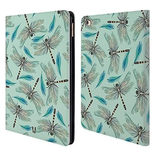 Head Case Designs Libellen Aquarell Insekten Brieftasche Handyhülle aus Leder für Apple iPad Air 2 (Ipad Air 2 128 Cellular)