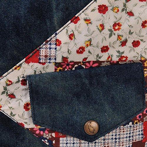Chang Spent Nationale Wind Floral Frauen Vintage-Denim Messenger Büro Business-Notebook Tasche Eintritt Paket a