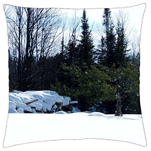 Firewood For Winter - Throw Pillow Cover Case (18