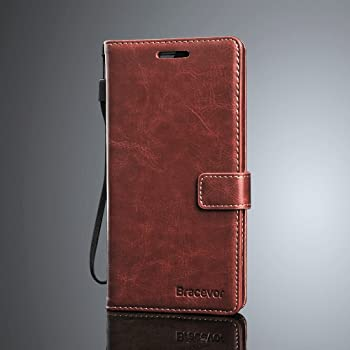 Bracevor Huawei P9 Flip Cover :Inner TPU, Premium Leather Case, Wallet Stand - Executive Brown