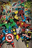 1art1 59150 Poster Bandes Dessinées Marvel Super-Héros 91 x 61 cm