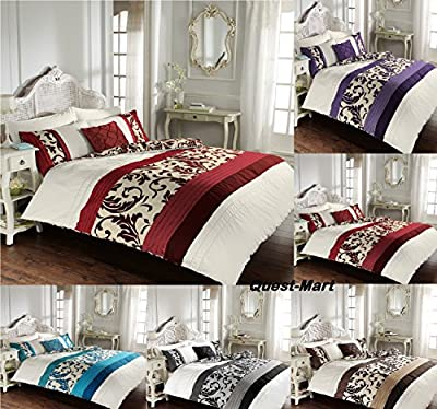 DUVET SET QUILT COVER WITH PILLOW CASES BEDDING SCROLL SINGLE DOUBLE KING SuperKing produced by Bedding - quick delivery from UK.