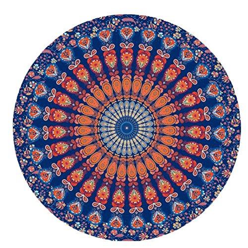 Minetom boemia mandala rotonda stampa teli mare hippy copriletto letto fogli arazzo tovaglia tappetino da yoga scialle 150cm stile20 one size
