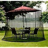 Carreguard Jardín Mosquitera Pantalla contra Insectos y Mosquitos Se adapta hasta 9 pies ( 270cm ) Parasol