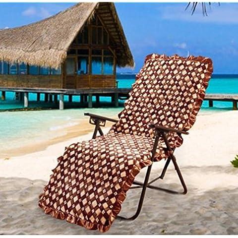 Sedia pieghevole imbottita sedia a dondolo cuscini divano cuscino calda, 1, 52* 160cm