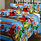 #7: Renown Adorable Kids Cartoon Motu Patlu Design Reversible Double Bed Quilt / AC Blanket / Dohar ( Pack Of 1 Pc )