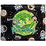 Rick and Morty Temps Portal Gun Voyage Noir Portefeuille