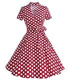 Timormode Damen Kleid, Gr. XX-Large, Rot Punkte