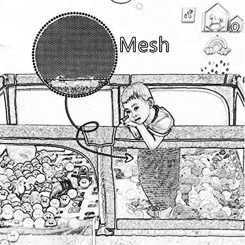 Fence Family Baby Safety Game, Baby Learning to Walk Crawling Shatter-Resistant  Fence
