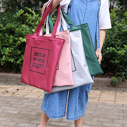 Moda donna lettera stampa ecopelle borsetta della borsa a tracolla verde Green taglia unica Green