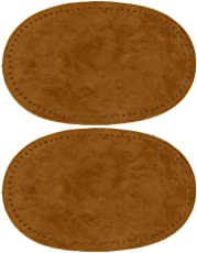Imported Pair of Oval Iron on Elbow Knee Patches Camel