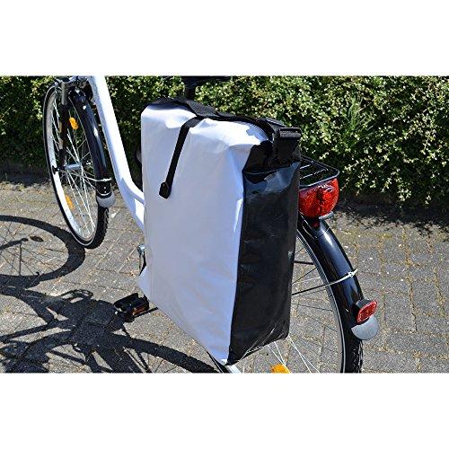 Filmer F Fahrradtasche LKW-Plane) Wasserdicht weiß / schwarz