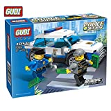 #7: GUDI 9308A City Police Series Police Car Building Blocks Educational Toy Bricks Let Kids Experiment Different Fun Gifts (9308A)