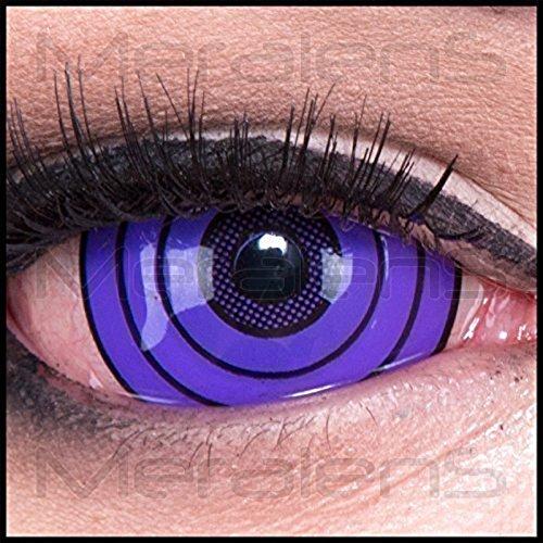 Funnylens 1 Paare Crazy Fun Sclera violet rinnegan 22 mm Jahres Kontaktlinsen. perfekt zu Halloween, Karneval, Fasching, Fasnacht und Halloween mit gratis Kontaktlinsenbehälter ohne Stärke! (Paare Haloween Kostüme)