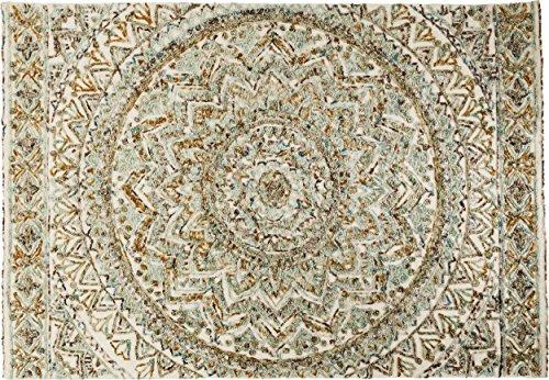 Kare Design Teppich Arabian Flower, großer Wohnzimmerteppich, handgefertigter Bodenteppich, Vorleger, Läufer, Bunt (H/B/T) 1x170x240cm