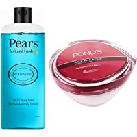 Pears Soft and Fresh Shower Gel, 250ml & Pond's Age Miracle Wrinkle Corrector SPF 18 PA++ Day Cream 50 g