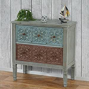aveiro sideboard with drawers shabby look vintage 80 x 79 x 40 cm kitchen home. Black Bedroom Furniture Sets. Home Design Ideas