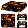 PS4 Skin Game Console Controller Decal Vinyl Protective Covers Stickers - Dragon Ball Z Vegata Playstation 4 Super Saiyan 5 God Son Goku DBZ Heroes orange from jaglo