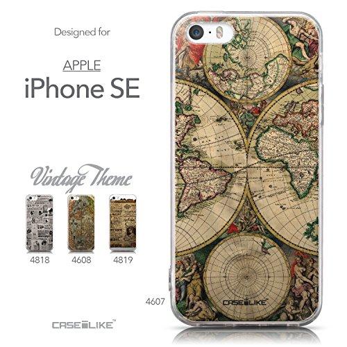 CASEiLIKE Art Mandala 2090 Housse Étui UltraSlim Bumper et Back for Apple iPhone SE +Protecteur d'écran+Stylets rétractables (couleur aléatoire) 4607