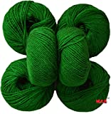 #9: Vardhman Acrylic Knitting Wool, Pack of 6 (Green) (Pack of 6)