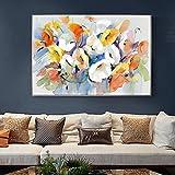XIAOXINYUAN Aquarell Blume Öl Gemälde an der Wand Drucke auf Leinwand Abstrakte Moderne Kunst Blume Bild Wohnzimmer Dekor 40 X 60 cm Ungerahmt