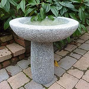 vogeltr nke f r den garten pure natural grau stein granit vogeltr nke garten. Black Bedroom Furniture Sets. Home Design Ideas