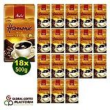 Melitta HARMONIE mild Filterkaffee 18x 500g (9000g) - Melitta Café gemahlen