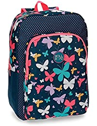 Roll Road 5232361 Spring Butterfly Mochila Escolar, 40 cm, 19.2 Litros, Multicolor