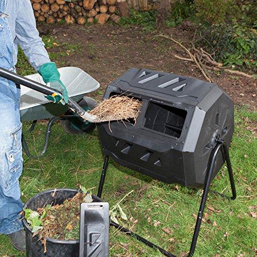Zoom IMG-6 wiltec compostiera girevole da giardino
