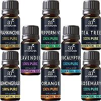 ArtNaturals Ätherische Öle Top 8 - (8 x .33 Fl Oz / 10ml) - 100% Pur & Naturrein - Aromatherapie - 8 verschieden Aromen - Duftöle für den Diffuser und zur Einreibung