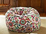 #10: Style Crome Birght Floral Bean Bag Design Pattern Bean Bags With Beans Filled - Size : Xxl